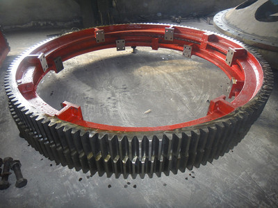 1400mm diameter of the large dryer gear
