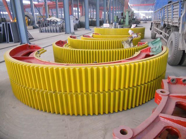 OEM Alloy Steel Rotary Kiln Large Ring Gears