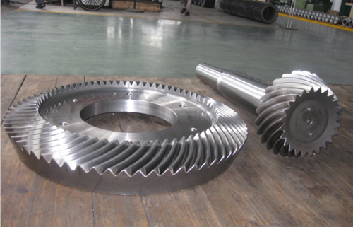 machining custom cement mill forged bevel gear in China,bevel gear OEM