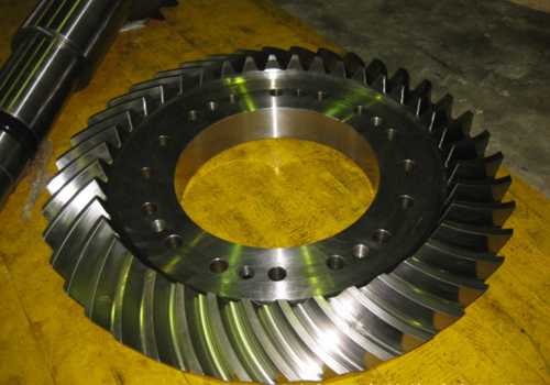 large spiral bevel gears machining custom in China,high quality bevel gear