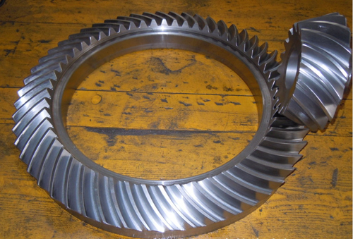 steel bevel gear for cement industry use,cement industry bevel gear custom